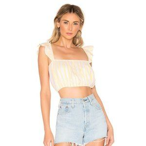 Lovers+Friends Striped Brenda Crop Top NWT
